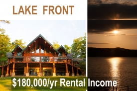 Luxury Log Home on OTSEGO LAKE - Spectacular Windowed OPEN FLOOR-PLAN