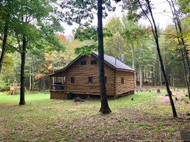 CATSKILL MOUNTAIN OFF THE GRID LOG CABIN - Hand Peeled Log Cabin